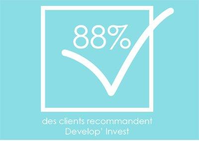 88% des clients recommandes Develop'Invest