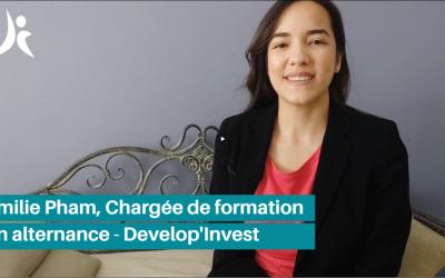 Témoignage : Emilie, chargée de formation en alternance chez Develop'Invest